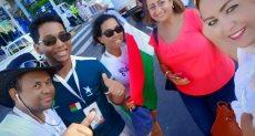 مشجعو مدغشقر مع المصريين