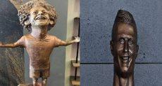 تمثال صلاح ورونالدو