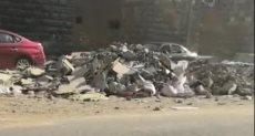القمامة أمام السور