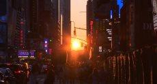 """غروب شمس """"مانهاتن"""""""