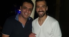 عبد الله السعيد يحتفل بعيد ميلادع مع المعلق حازم الكاديكي