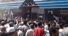 : جانب من تشييع جنازة فاروق الفيشاوي