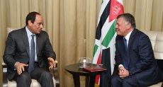 الرئيس عبد الفتاح السيسى والملك عبد الله الثاني عاهل الأردن