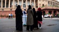 مسلمون هنود أمام البرلمان الهندى