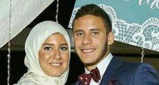 رمضان صبحى وزوجته
