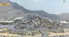 وقوف الحجيج على جبل العرفات