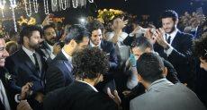 جانب من حفل زفاف مروان محسن
