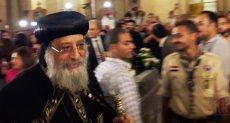 جانب من وصول البابا تواضروس الثانى للإسكندرية
