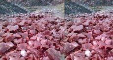 صخور على شكل قطع اللحوم