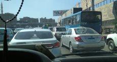زحام مرورى بطريق الكورنيش من ميدان المؤسسة وحتى منطقة روض الفرج