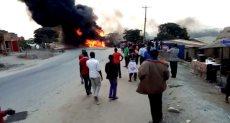 اصطدام شاحنة وقود بـ 3 سيارات فى أوغندا