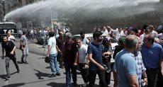 الشرطة التركية تفض مظاهرات للأكراد