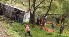حادث انقلاب حافلة-صورة ارشيفية