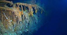 انتشار البكتيريا على هيكل تيتانيك