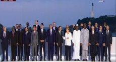 الرئيس السيسى يشارك بالصورة التذكارية لقادة مجموعة السبع الكبار