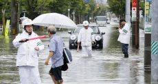 امطار فى اليابان