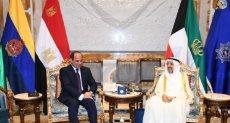 الرئيس السيسى مع أمير الكويت