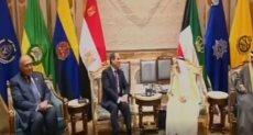 الرئيس السيسى يلتقى الشيخ صباح الأحمد الجابر