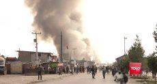 اللحظات الأولى لانفجار سيارة مفخخة فى افغانستان