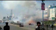 لحظة انفجار مصنع للألعاب النارية بالهند