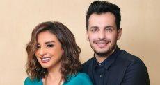 انغام وزوجها الموزع الموسيقي احمد ابراهيم