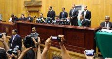 جلسة محاكمة المتهمين بقضية التخابر