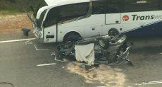 مكان حادث التصادم