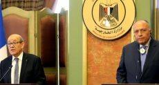 وزيرا خارجية مصر وفرنسا