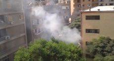 حريق القمامة داخل مدرسة بحلمية الزيتون