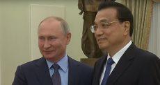 بوتين ورئيس مجلس الدولة الصيني