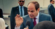الرئيس السيسى لدى وصوله القاهرة