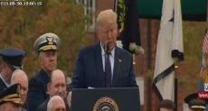 الرئيس الأمريكى دونالد ترامب خلال المراسم