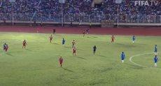 جانب من مباراة سابقة لمنتخب ليبيريا