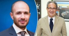 الدكتور محمد العزازى رئيس جامعة مصر وخالد الطوخى رئيس مجلس أمناء الجامعة