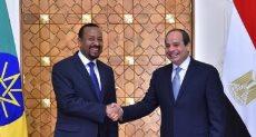 الرئيس عبد الفتاح السيسي - رئيس الوزراء الإثيوبي أبي أحمد