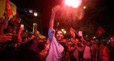 احتفالات فى شوارع تونس بفوز قيس سعيد بالانتخابات الرئاسية