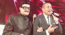 عمرو دياب وسمير غانم في حفل زفاف نجل هاني شاكر