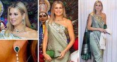ملكة هولندا بالزى الهندى