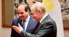 الرئيس عبد الفتاح السيسي - والرئيس الروسي فلاديمير بوتين