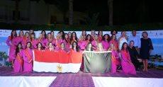 ملكات جمال بلجيكا يرفعن علم مصر بختام زيارتهن لشرم الشيخ (صور)