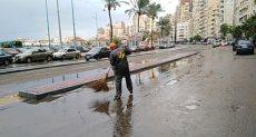 شوارع الإسكندرية بعد هطول الأمطار