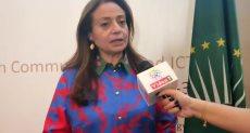 الدكتورة أمانى أبو زيد مفوض شئون البنية التحتية والمعلوماتية والطاقة والسياحة بالاتحاد الأفريقى