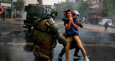 الاحتجاجات فى تشيلى