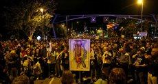 آلاف المحتجين يتظاهرون ضد زيارة ملك إسبانيا لبرشلونة