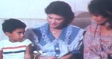 هيثم أحمد زكي في طفولته مع والدته هالة فؤاد والمذيعة سلمى الشماع