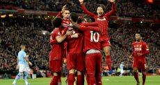 احتفالات لاعبو ليفربول