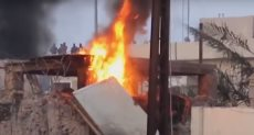 النيران فى مبنى محافظة البصرة