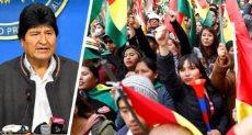 الرئيس البوليفي والمتظاهرون