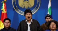 رئيس بوليفيا السابق  إيفو موراليس