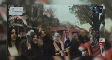 وقفة للجالية المصرية فى ألمانيا للترحيب بالرئيس السيسي